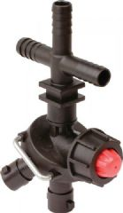 Dry Boom Triple Nozzle Holder with Valve 8240011